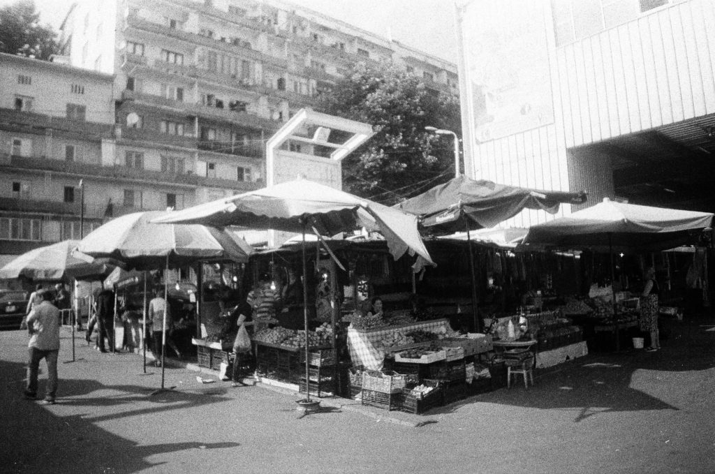 Tbilisi, black and white, trh, tržnice