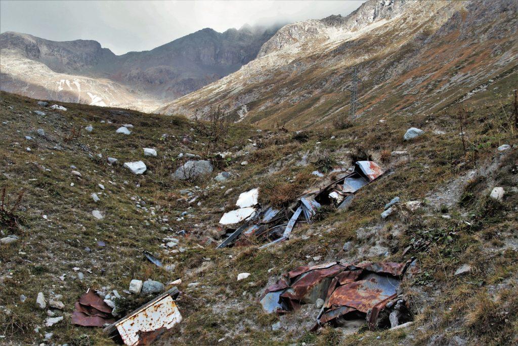 skládka, hory, odpady