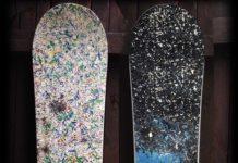 upcyklované snowboardy