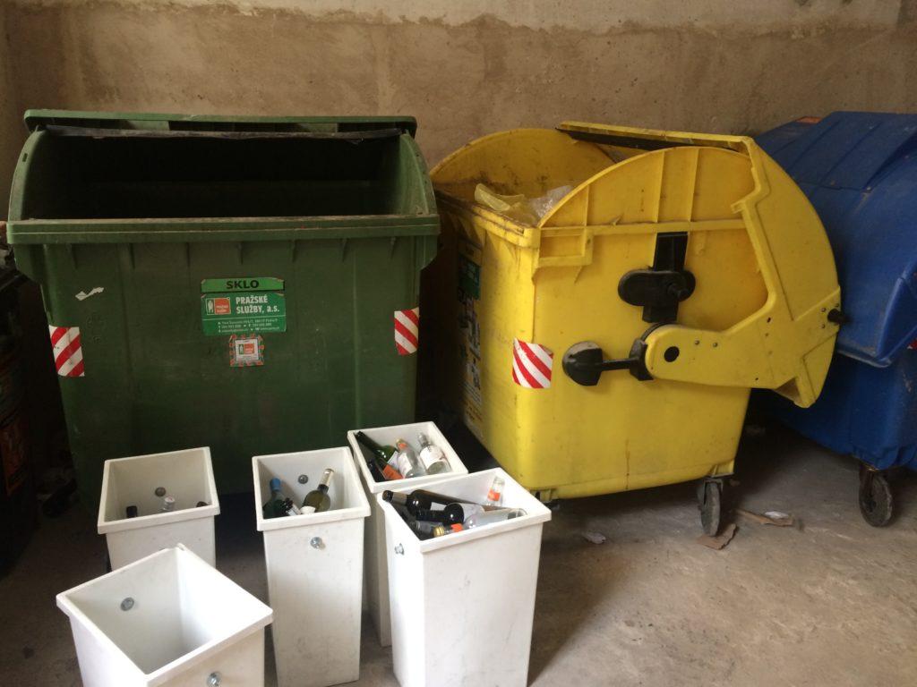 cirkulární kavárny, odpad, koše