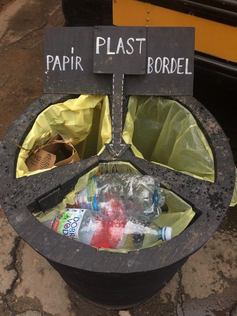 cirkulární kavárny, odpady