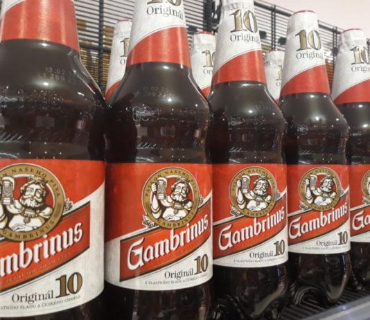 Gambrinus v PET lahvích
