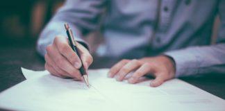 Podpis, ilustrační foto
