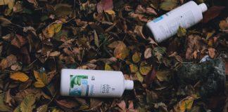 Plastová lahev v lese